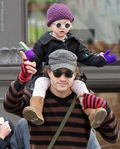 The late Heath Ledger with daughter Matilda <3 rip to him!!!