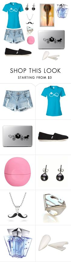 Jade  thoo by khandy-cush-gurl on Polyvore featuring TOMS, Noir, Bling Jewelry, Thierry Mugler, Eos and Disney