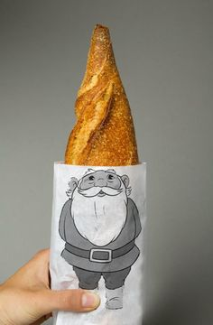 original xmas packaging santa claus, @italianbark #designtime unconventional design christmas ideas