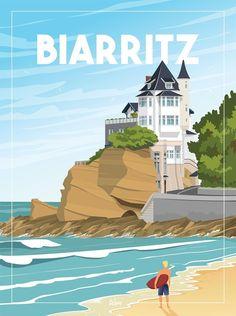 Biarritz, Belle Villa, The Prestige, Toulouse, Portrait, Paper Texture, Illustration, Draw, Studio