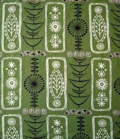 rare vtg 50s fabric grafton atomic lucienne day / robert stewart / Heals era | eBay