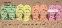 Flip Flops Personal Checks Shells And Sand, Sea Shells, Order Checks Online, Business Checks, Beach Scenes, Go Shopping, Flip Flops, Seashells, Beach Sandals