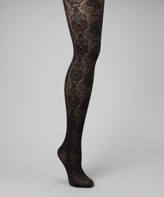 Take a look at this Black Giselle Tights by Ori on #zulily today!