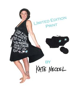 """Limited Edition artists' series print by Kate Neckel  Labor Gown, Headband, Postpartum Underwear, and Nursing Pads """"Take it easy, soon yeah   Time Click Clock   Wait, Chill, Breathe   Talk, walk, Relax   Yeah Sure    Oh Hey You    Kiss"""" Birth Hospital Bag, Postpartum Nursing, Birthing Gown, Delivery Gown, Printed Gowns, Nursing Pads, Chic Baby, Nursing Dress, New Moms"""