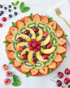 Tart Recipes, Fruit Recipes, Delicious Fruit, Yummy Food, Fruit Creations, Fruit Cookies, Food Carving, Beautiful Fruits, Eat The Rainbow