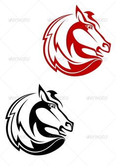 Horse Tattoo — JPG Image #wild #mare • Available here → https://graphicriver.net/item/horse-tattoo/3721319?ref=pxcr
