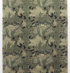 Decorative fabric design by CFA Voysey, England, ca.1884. Cotton