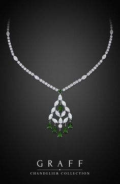 Graff Diamonds: Chandelier Necklace with sapphires in platinum Graff Jewelry, Emerald Jewelry, Diamond Jewelry, Jewelry Necklaces, Stylish Jewelry, High Jewelry, Luxury Jewelry, Fashion Jewelry, Saphir Rose