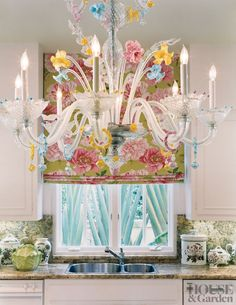 Delightful Beautiful Floral Roman Blind This Is A HAPPY Kitchen Modern Kitchen By De  La Torre Design Studio In Palm Beach, Florida Design Inspirations