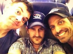 Travis Wester, Richard Speight Jr, and Rob Benedict getting ready for #VegasCon2014