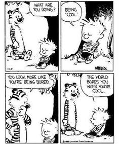 Calvin Und Hobbes, Calvin And Hobbes Quotes, Calvin And Hobbes Comics, Comics Illustration, Illustrations, Guter Rat, Funny Comic Strips, Nostalgia, Humor Grafico