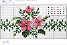ENCANTOS EM PONTO CRUZ: Flores |  Cross