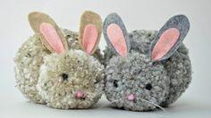 How to - Pom Pom Rabbits - YouTube