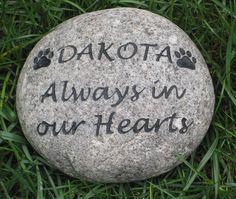 Personalized Dog Cat Pet Memorial Stone Grave Marker Headstone 7-8 Inch Memorial Stone Marker
