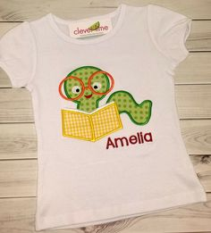 Book Worm ShirtBack to School ShirtPersonalized by CleverLime