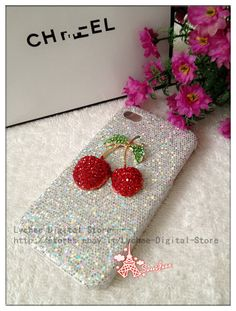 COVER CUSTODIA argenta con Ciliegia STRASS BRILLANTINI PER APPLE IPHONE 5 5S Iphone 5s, Apple Iphone, Iphone Cases, Cool Wallpapers For Phones, Fashion Cover, Phone Covers, My Little Pony, Gift Wrapping, Street Style
