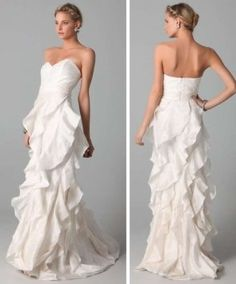 Badgley Mischka Badgely Mischka Collection Strapless Gown With Ruffle Wedding Dress $374