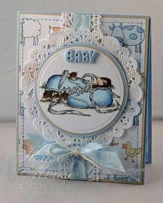 House Mouse and Friends Monday Challenge I am Thankful for . Welcome back to House-Mouse and Friends MONDAY CHA. House Mouse Stamps, Christmas Challenge, New Baby Cards, Baby Shower Cards, New Baby Boys, Kids Cards, Boy Cards, Penny Black, Copics