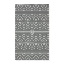 Stylish Retro Style Grey White Pattern Area Rug #grey #pattern