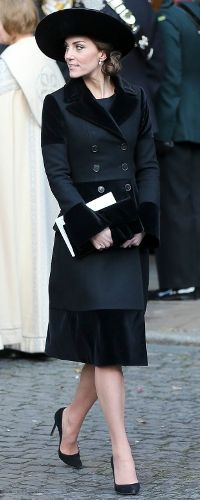28th Nov 2016 - Duchess of Cambridge attends Duke of Westminster memorial service. Click to read more