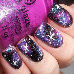 getnailedxx #galaxy #nails #galaxynails