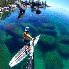 Sand Harbor Beach, Lake Tahoe, Nevada, US |  Lakeshore Paddleboard Company