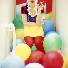 "Saatchi Art Artist Kelly Nicolaisen; Photography, ""Smoke Break"" #art #snowwhite #fairytales #portraits #balloons"
