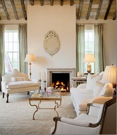 Interior Design Ideas: Living Rooms- love this it's more formal than I'd usually like but he simplicity somehow makes it ok