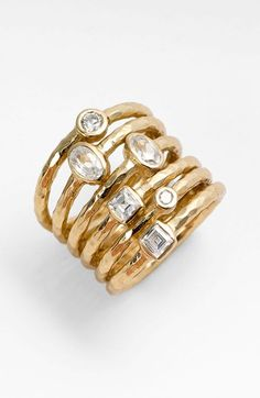 Melinda Maria 'Monroe' Stack Ring | Nordstrom. the look of stacking rings without having to deal with different rings twisting around.