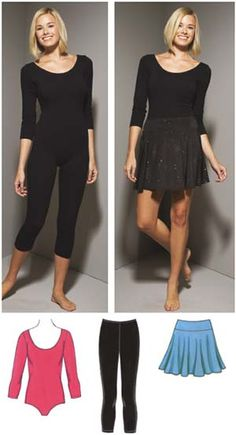 Kwik Sew 3661 from Kwik Sew patterns is a Misses' Leotard, Leggings & Skirt sewing pattern