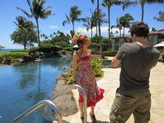 Maui, Hawaii social media press trip - travel + fashion blogger La Carmina wearing Nanette Lepore. More photos at http://www.lacarmina.com/blog/2012/07/maui-private-pool-luxury-rooms-wailea-beach-villas-destination-resorts-nanette-lepore-dress/