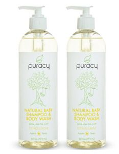 Best Baby Washes For Newborns: Puracy Natural Baby Shampoo & Body Wash, Tear-Free, Sulfate-Free, Developed by Doctors, 16 Ounce Pump Bottle (Pack of Natural Body Wash, Natural Baby, Best Car Sun Shade, Wanting A Baby, Citrus Essential Oil, Essential Oils, Baby Shampoo, Best Shampoos