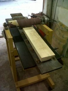 Drum Sander - Homemade drum sander featuring a granite top. Capable of sanding 5