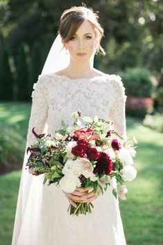 Wedding Dress: PreOwnedWeddingDresses.com - http://www.stylemepretty.com/portfolio/preownedweddingdresses-com Floral Design: Greenlion Design - http://www.stylemepretty.com/portfolio/greenlion-weddings Photography: Rebecca Arthurs - rebecca-arthurs.com   Read More on SMP: http://www.stylemepretty.com/2016/03/21/elegant-intimate-glen-manor-wedding/