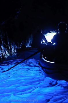 Blue Grotto, Capri Italy - the atmosphere in this place was amazing. It was like the water glowed!