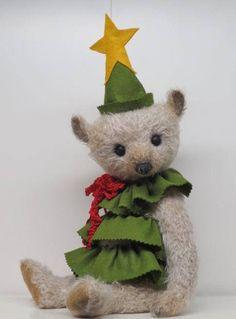 Artist Bear Antique Style Mohair Teddy Bear Christmas Tree