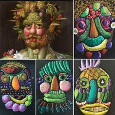 Giuseppe Arcimboldo, Art Projects, Projects To Try, Elementary Art, Famous Artists, Art School, Art Lessons, Art History, Art For Kids