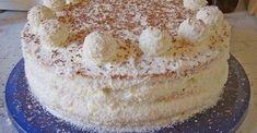 Raffaello torta, ktorá chutí rovnako ako guličky z obchodu: Inú už ani nepripravujem! - Recepty od babky Austrian Recipes, Hungarian Recipes, Sweet Recipes, Cake Recipes, Dessert Recipes, Bowl Cake, Salty Cake, Crazy Cakes, Savoury Cake