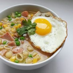 Hong Kong Style Spam & Egg Macaroni Soup (午餐肉通粉)