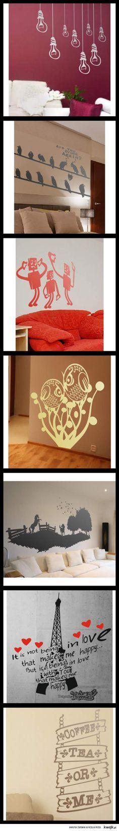 Mój kumpel robi takie naklejki na ściany, świetna opcja :]