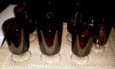Vintage Ruby Red Glasses France
