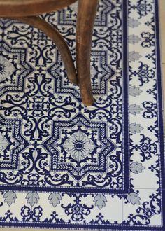 tapis vinyle beija flor impression carreau ciment