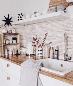 Na, wie war euer - Design della cucina Home Decor Kitchen, Interior Design Kitchen, Home Kitchens, Kitchen Ideas, Küchen Design, Home Design, Home Decor Inspiration, Small Kitchen Inspiration, Home And Living