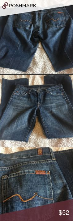 """7FAM 7 FOR ALL MANKIND JEANS FLARE SIZE 30 EUC Like new 7FAM jeans like new. 30"""" inseam. 30"""" waist. Flare leg. Excellent condition I consider all offers or add to a bundle. 7 For All Mankind Jeans Flare & Wide Leg"""