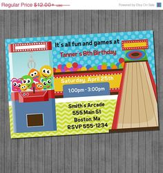 30 OFF SALE Arcade Party Invitation By Sugarandspiceprintz Off Sale Birthday Invitations 30th