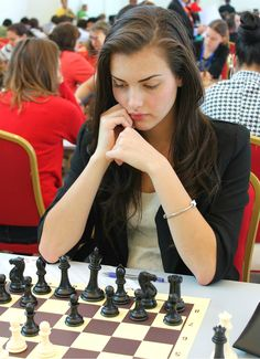 Alexandra Botez, one of Canada's top female chess players.