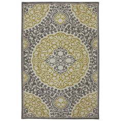 Shop Mohawk Home Tahj Rectangular Yellow Geometric Tufted Area Rug (Common: 8-ft x 10-ft; Actual: 8-ft x 10-ft) at Lowes.com