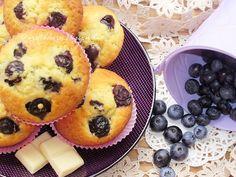 Az otthon ízei: Áfonyás muffin fehér csokoládéval