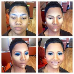 WOW!! Via make up artist Renny Vasquez. what a difference some contouring makes!