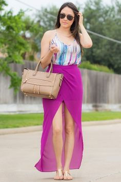 Splitting Times Skort - Get this entire look on my profile link with a 10% discount ! Great colors for summer !